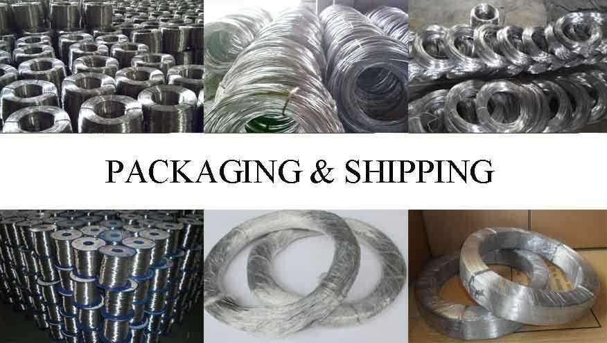 Packaging and shipping of aluminium wire 9.5 mm with the factory price