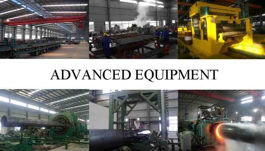 ADVANCE EQUIPMENT OF PE Black paint and pipe cap  steel seamless pipes