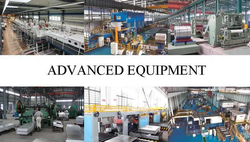 advanced equipment of Aluminum sheet