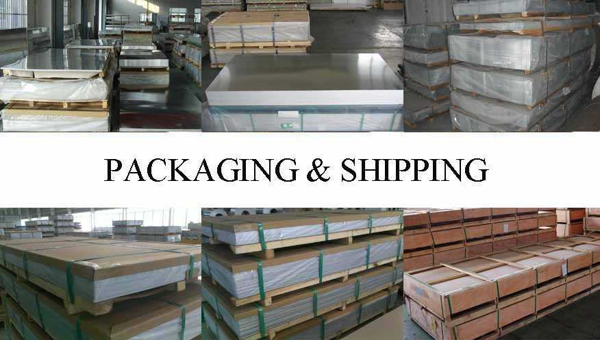 packaging and shipping of Aluminum sheet