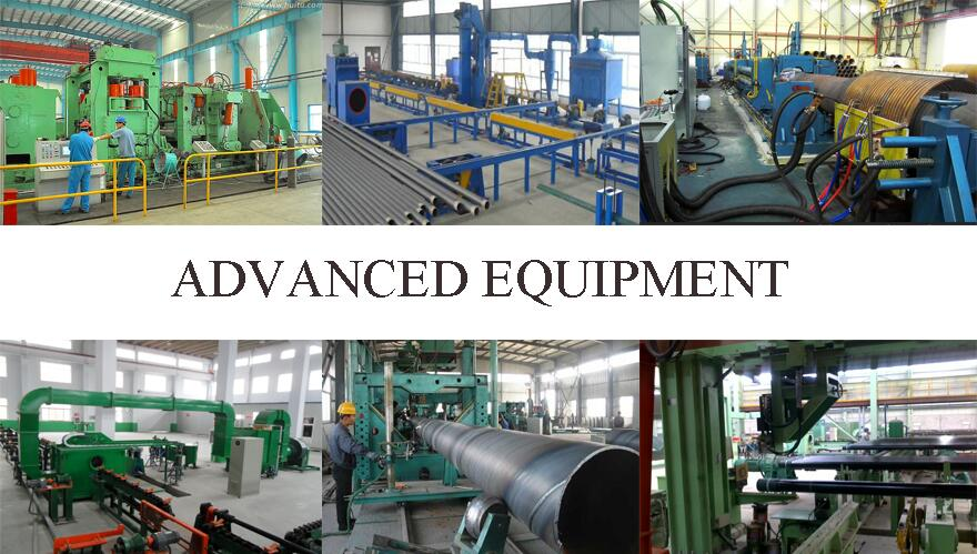 advance equipment of 235B ERW carbon steel pipe factory price