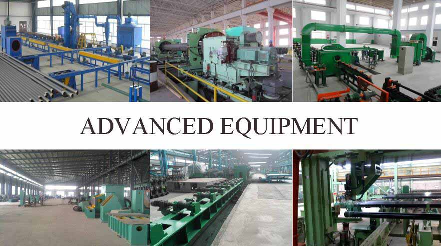 advance equipment of ASTM A53b erw steel pipe factory price