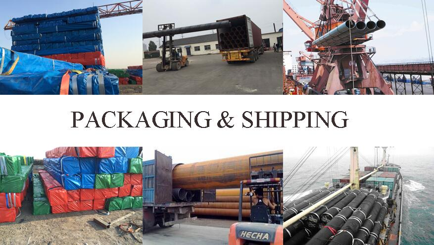 packaging and shipping of ASTM A53b erw steel pipe factory price