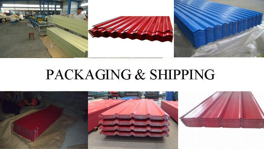 Packaging & Shipping of Good sale corrugated steel roofing sheet