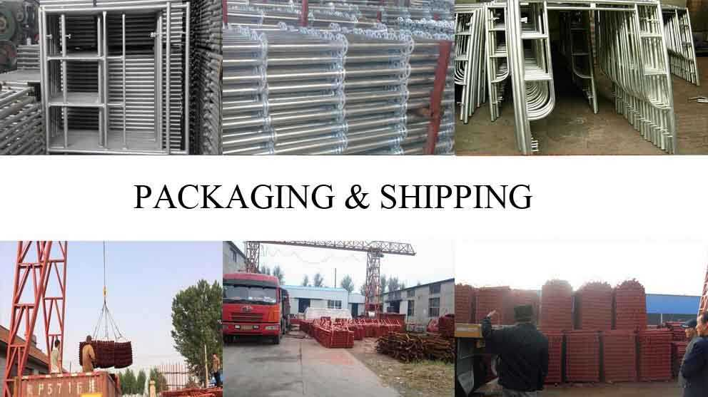 Packaging and shipping of Scaffolding Frame Supplier in Turkey