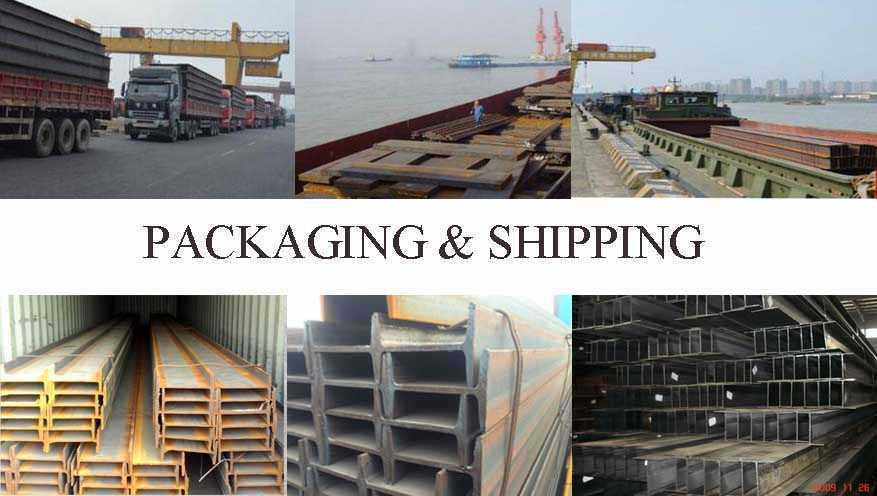 packaging and shipping of Stainless steel h beam