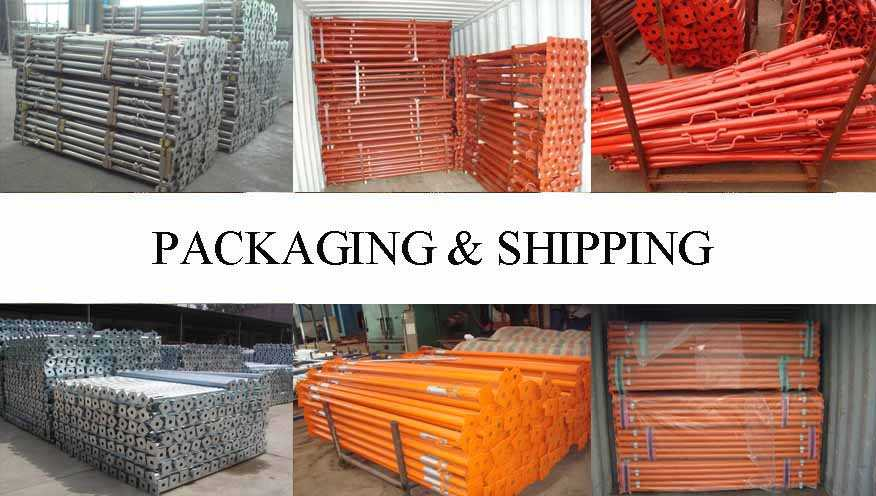 Packaging & Shipping of Scaffolding Prop Supplier in East Tinor with best pricce