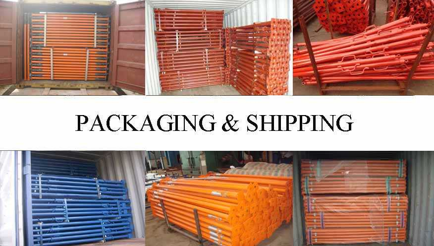 Packaging & Shipping of Scaffolding prop supplier in Cambodia with the best price