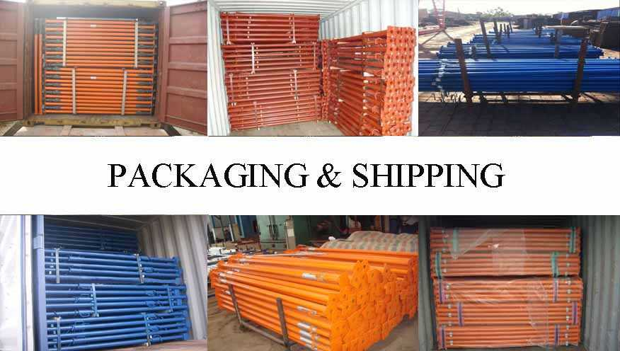 Packaging & Shipping of Scaffolding prop manufacturer in Malaysia with good quality