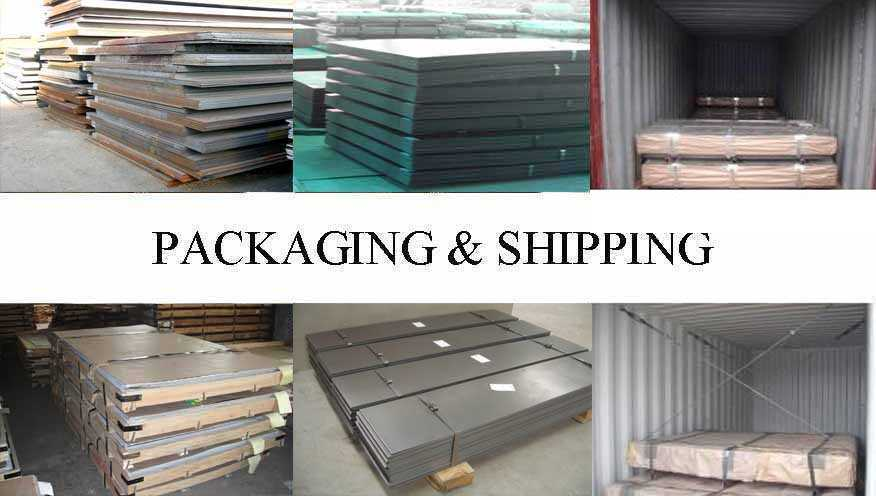 Packaging & Shipping of Q235 Q255 Steel sheet supplier