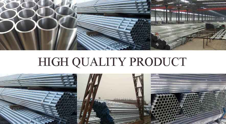 high quality product of High qulity welded galvanized steel pipe manufacturers in guinea