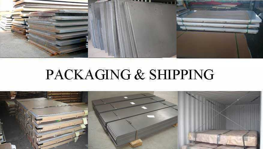 Packaging & Shipping of ASTM Steel Sheet Manufacturer