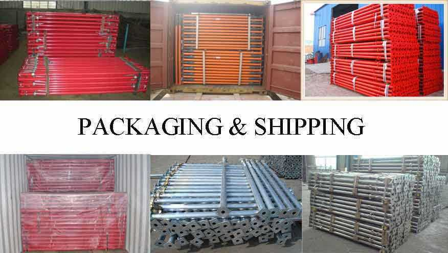 Packaging & Shipping of Scaffolding prop supplier in Singapore