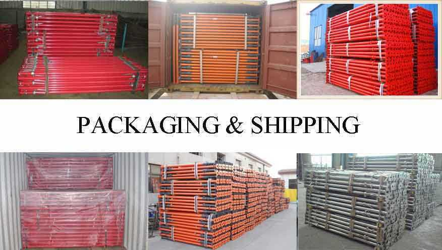 Packaging & Shipping of Q195 Q215 Q235 Scaffolding prop supplier