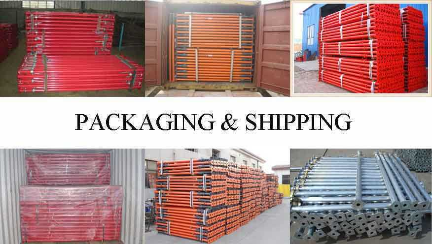 Packaging & Shipping of Scaffolding prop supplier in Thailand