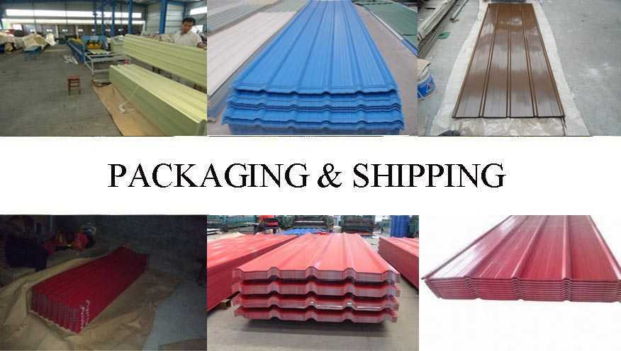 Packaging & Shipping of cheap price  roof sheeting supplier from  china