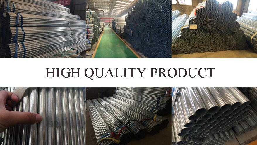high quality product of Q235 Q235B Galvanized steel pipe manufacturer