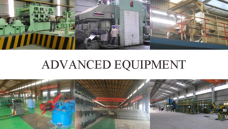 advance equipemnt of 4 inchs pre galvanized steel pipe supplier