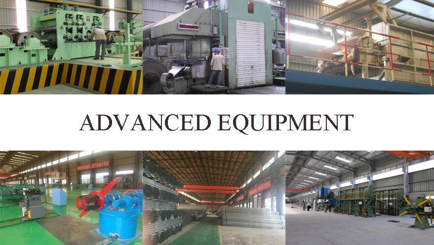 advance equipment of 4 inch pre galvanized steel pipe supplier