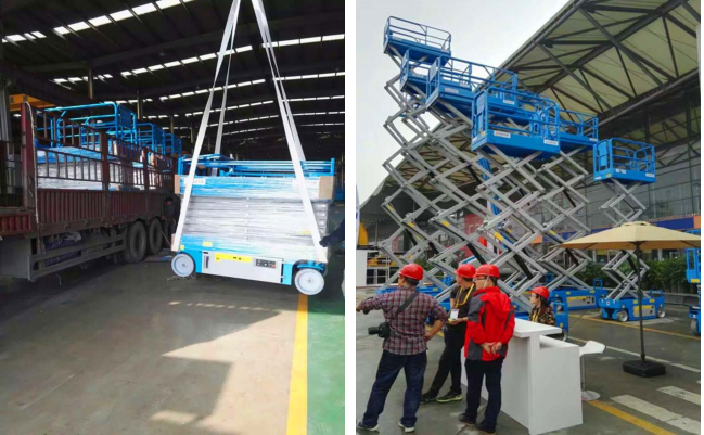 China Top Design 4-14m Battery Power Self Propelled Electric Hydraulic Scissor Lift