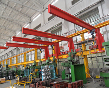 China Made 3T Electric Hoist Operated Cantilever Rail Mounted Crane For Sale