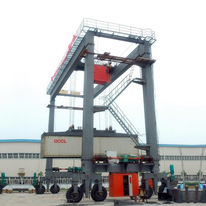 50t Double Girder RTG Cranes For Marble Loading