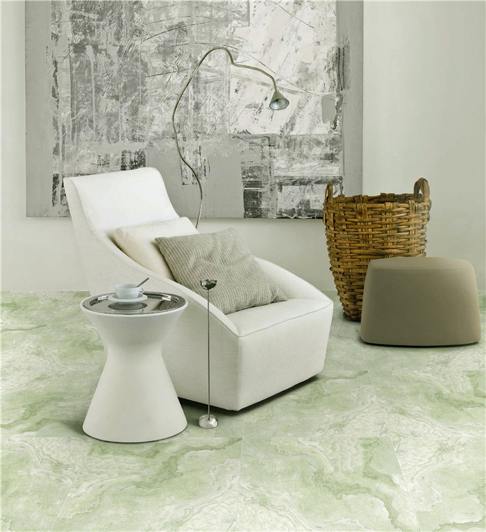China digital Inkjet polished porcelain tiles 60x60 green color