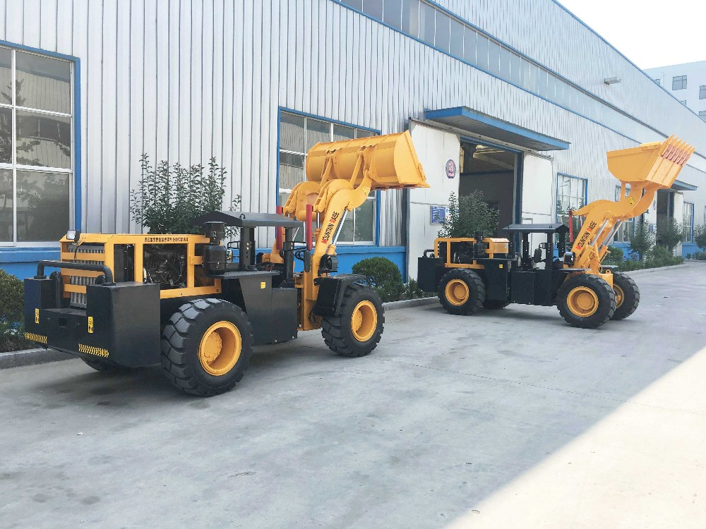 Underground wheel loader and Landmaschine Radlader