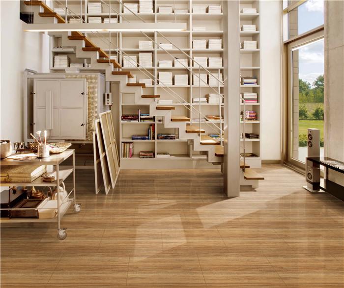 non slip rustic inkjet porcelain glazed matt wood tiles for bedroom