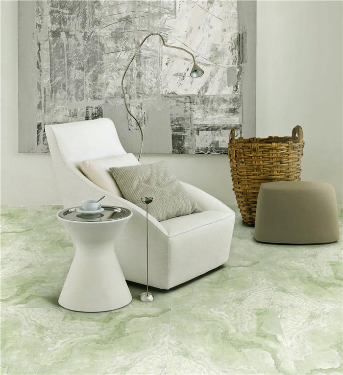 polished finishing porcelain glazed green marble floor tiles