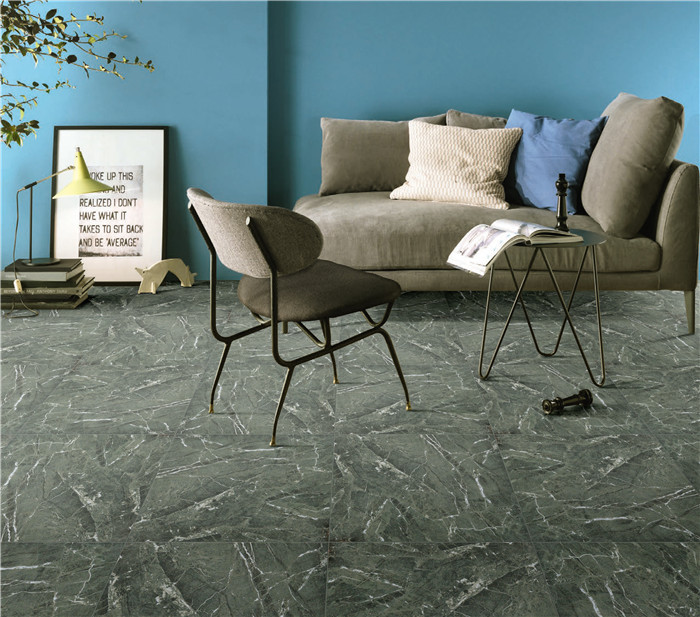 glossy polished porcelain glazed screen printing green floor tiles