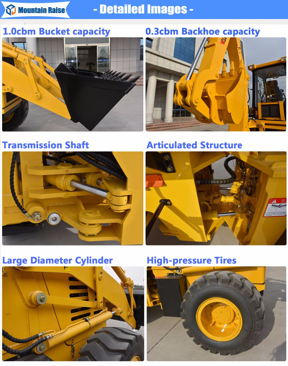 Popular Chinese mini backhoe digger and front loader with prices for sale
