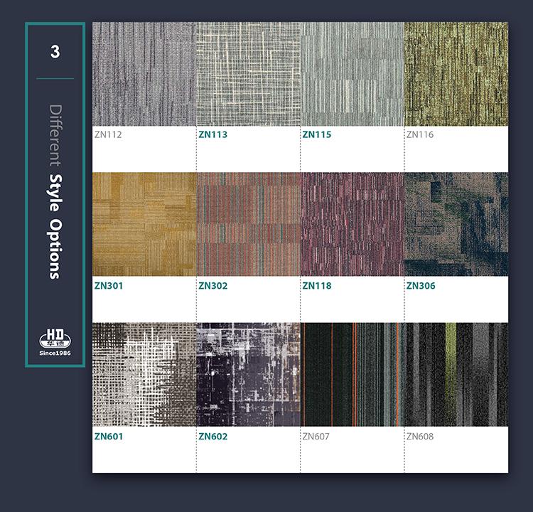 Cheap hot sale luxury 60X60 Vinyl Carpet Tiles