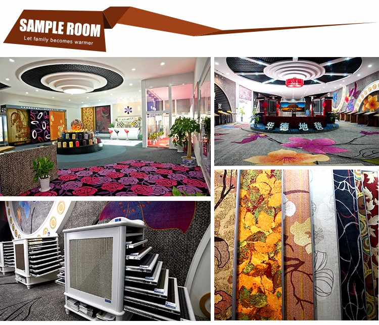 Newest design top quality luxury printed carpet for hotel