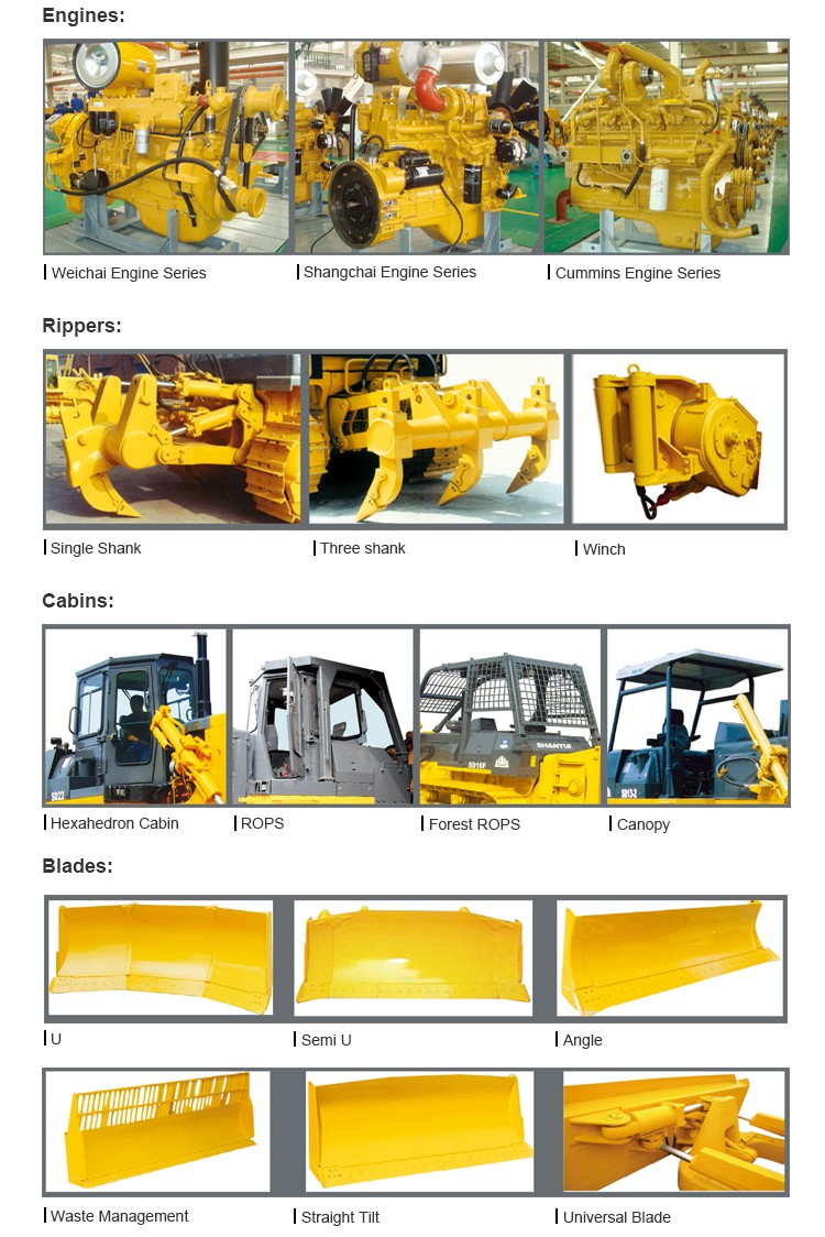 Hydraulic shandong bulldozer with high efficency