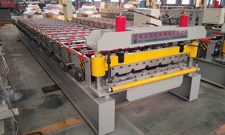 Galvanized sheet IBR used metal roof panel roll forming machine