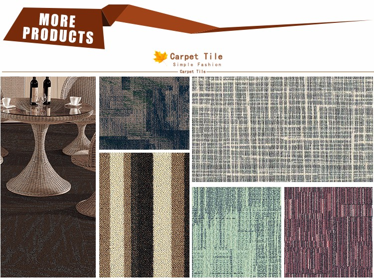 Factory manufacture various bedroom office hotel nonwoven jacquard carpet
