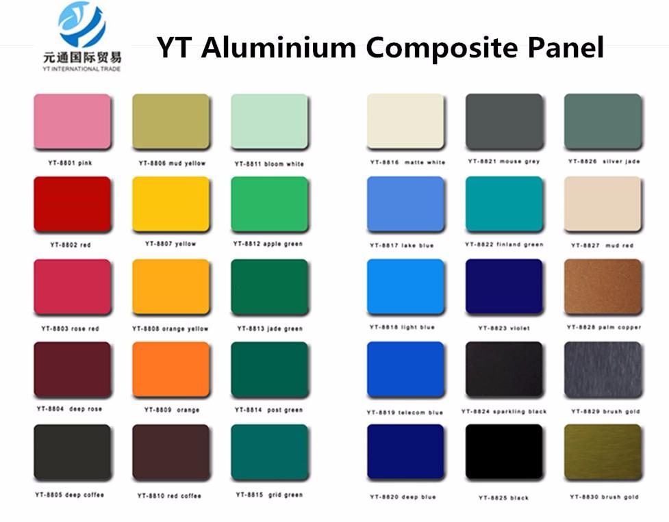 Long Life Span ACP Wall Cladding Aluminium Composite Panel