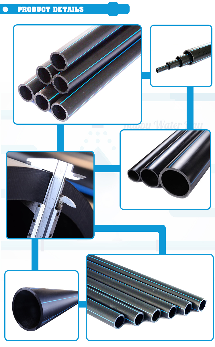 Standard Length 6m 8 inch sizes hdpe water supply pipe malaysia