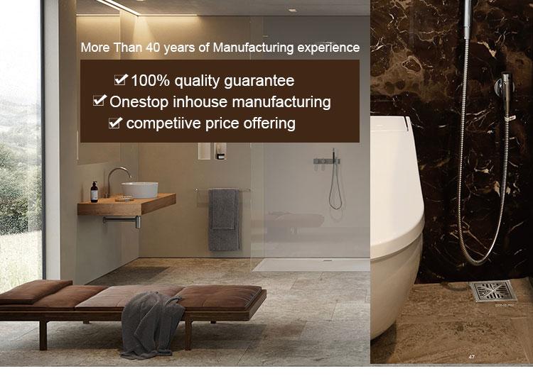 Luxury Hotel 304 Stainless Steel Shower Channel Drain In Concrete Floor